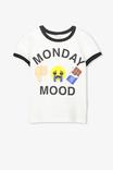 EMOJI MONDAY MOOD VANILLA/RINGER