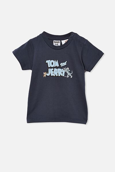 Jamie Short Sleeve Tee-License, LCN WB VINTAGE NAVY/TOM & JERRY LOGO