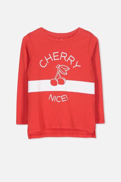 Penelope Long Sleeve Tee, RED/CHERRY NICE/SET IN