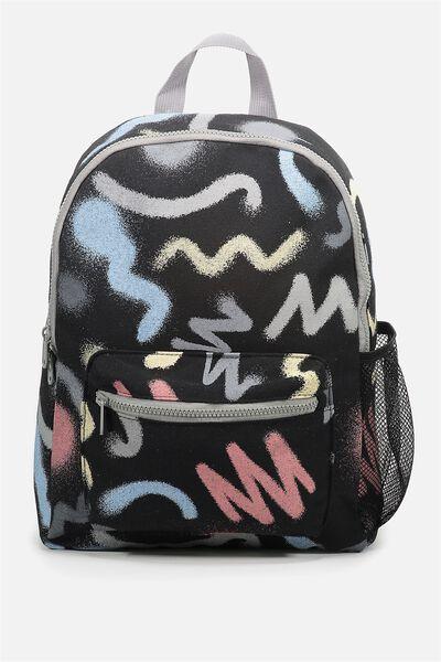 School Backpack, SCRIBBLE ART