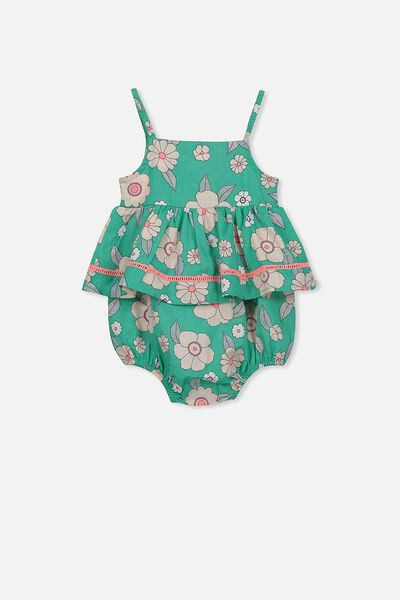 Fifi All In One, PEACOCK GREEN/SKANDI FLORAL