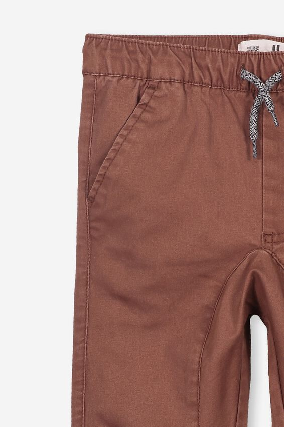 Logan Cuffed Pant, RUSTY BROWN