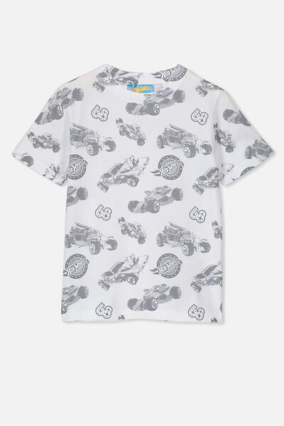 Co-Lab Short Sleeve Tee, LCN MAT HOT WHEELS/WHITE