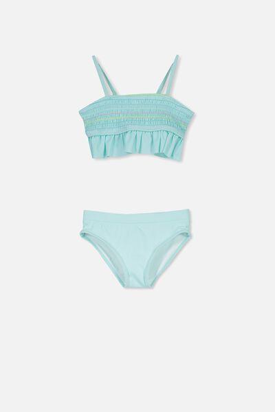 Harper Bikini, AQUA TINT/RAINBOW STITCH