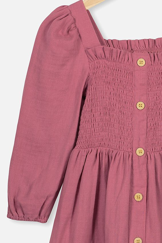 Lindsay Long Sleeve Dress, VERY BERRY