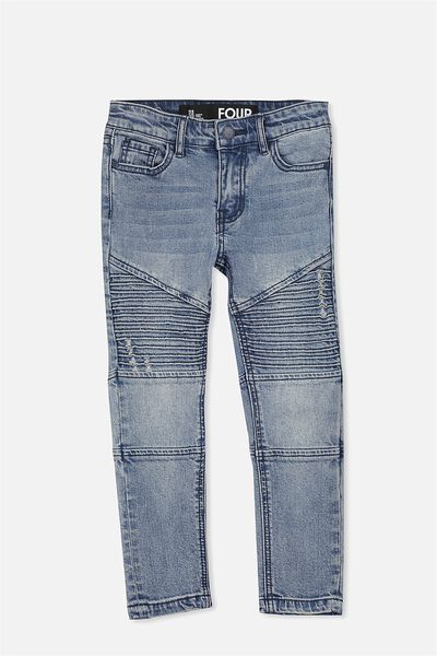 Marshall Slim Leg Jean, MOTO CRYPTIC BLUE