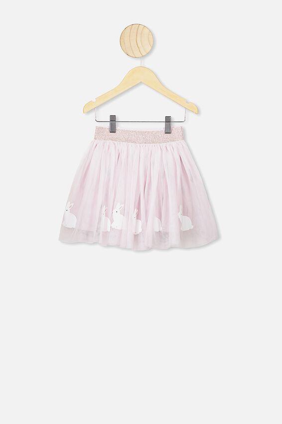 Trixiebelle Tulle Skirt, LAVENDER FOG/BUNNIES