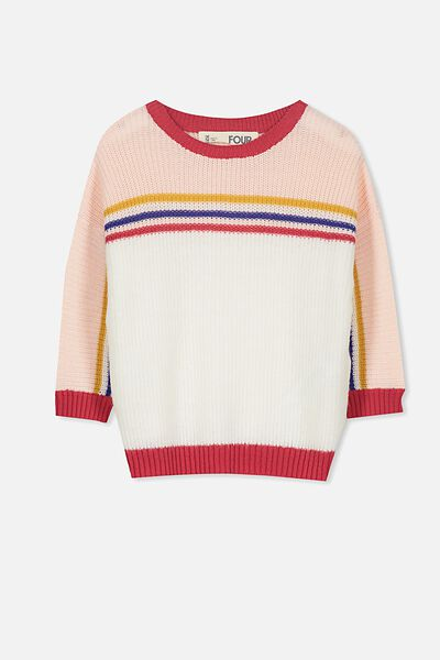 Ziggy Slouchy Knit, SPORTY STRIPE