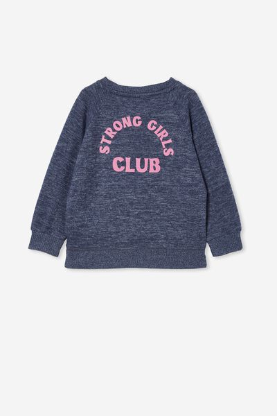Super Soft Mila Crew, INDIGO/ STRONG GIRLS CLUB