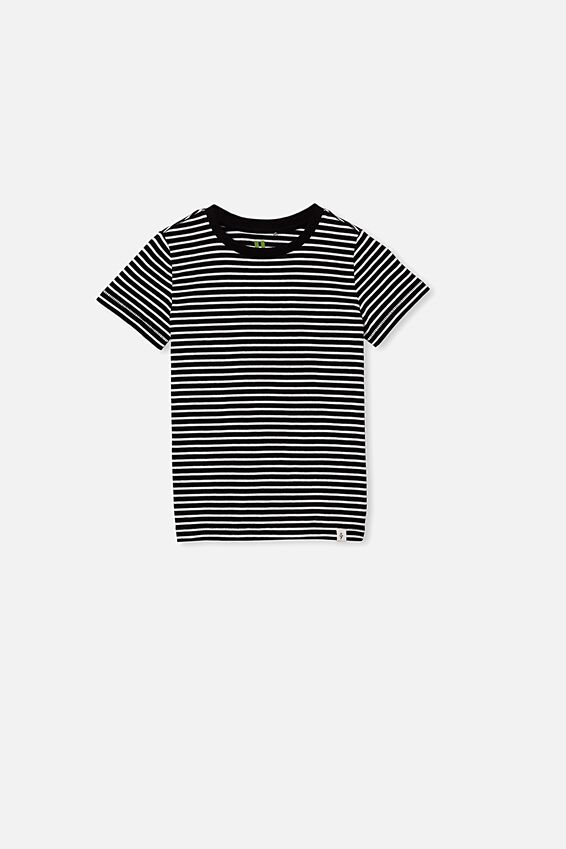 Core Short Sleeve Tee, WHITE/BLACK YDS