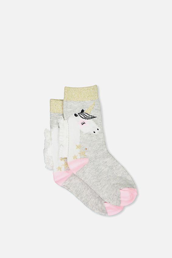 Unicorn Fashion Kooky Socks, NEW GLOW IN THE DARK UNICORN