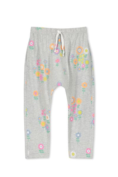 Daisy Pant, LIGHT GREY MARLE/FLORAL MEADOW