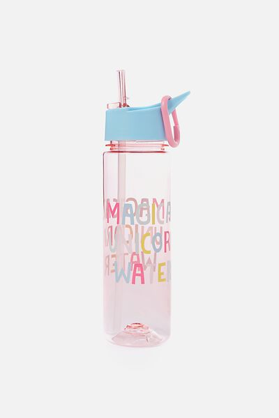 Summer Drink Bottle, PINK UNICORN