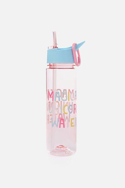 Summer Drink Bottle, PINK UNICORN