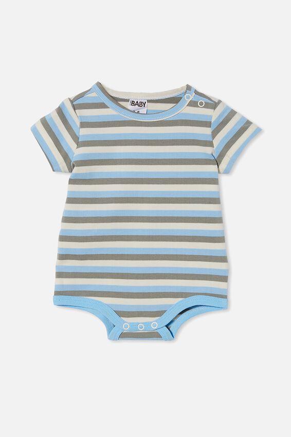 The Short Sleeve Bubbysuit, SKYE HAZE/SILVER SAGE/DARK VANILLA KEANANSTRI