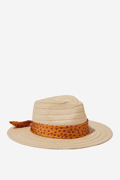 Floppy Hat, NATURAL/DITSY FLORAL