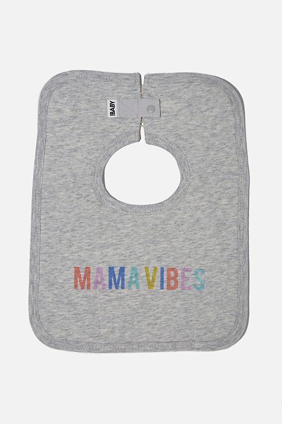 The Square Bib, CLOUD MARLE/RAINBOW MAMA VIBES