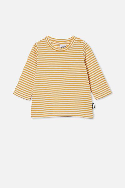 Jamie Long Sleeve Tee, CHRIS STRIPE VINTAGE HONEY/VANILLA