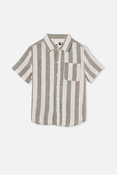 Resort Short Sleeve Shirt, CANDY STRIPE/SWAG GREEN