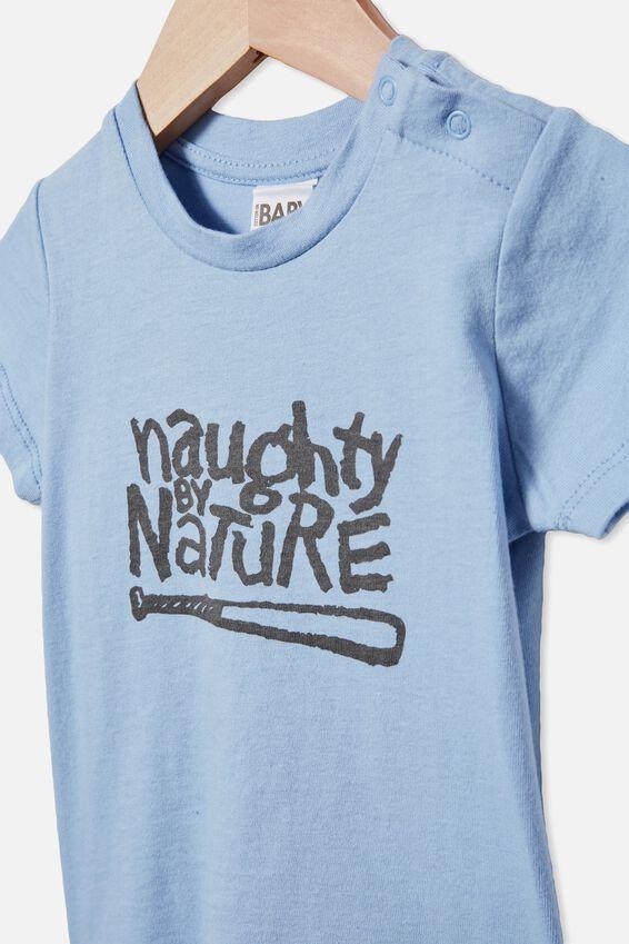 Jamie Short Sleeve Tee, LCN MT POWDER PUFF BLUE/NAUGHTY BY NATURE