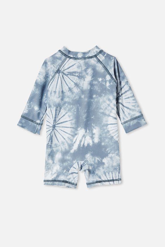 Cameron Long Sleeve Swimsuit, STEEL/TIE DYE