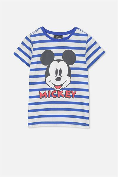 Short Sleeve License Tee, FRENCH BLUE YDS/MICKEY FACE