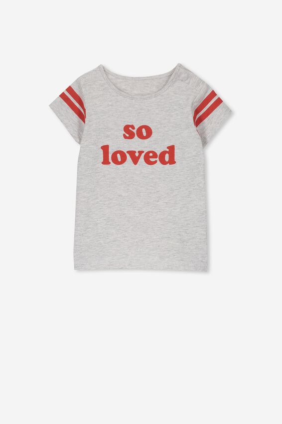 Ginger Ss Tee, CLOUD MARLE/SO LOVED
