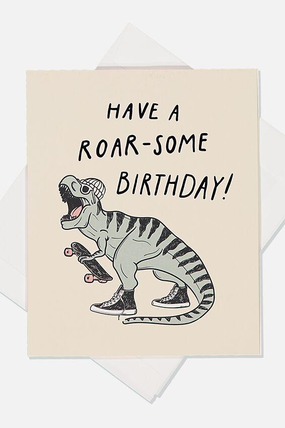 Birthday Gift Card, PRINTED ROAR-SOME BIRTHDAY