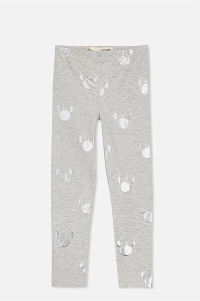 Huggie Leggings, LIGHT GREY MARLE/MINNIE YARDAGE
