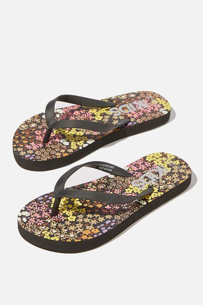Printed Flip Flops, PHANTOM FLORAL FIELDS