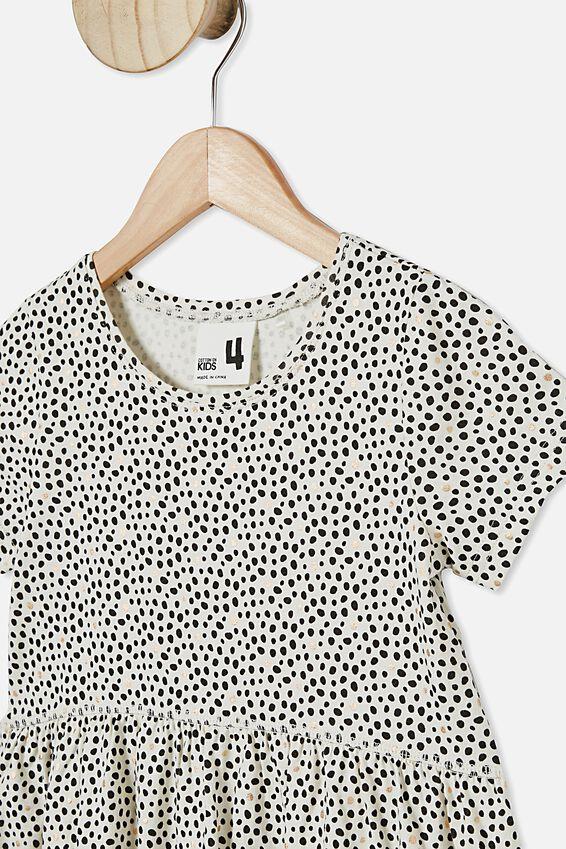 Freya Short Sleeve Dress, DARK VANILLA/DABBY SPOT