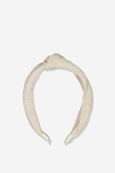 Fashion Headband, VANILLA/SHIMMER