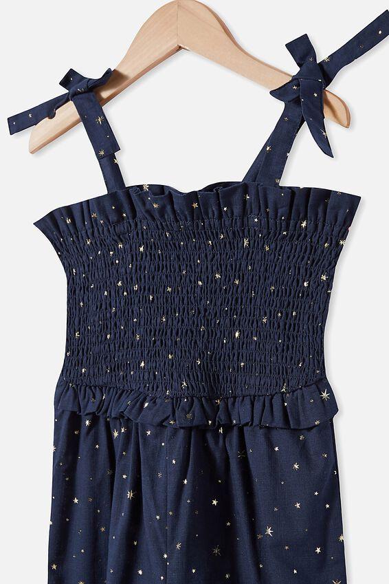 Imogen Shirred Jumpsuit, NAVY BLAZER/STARS