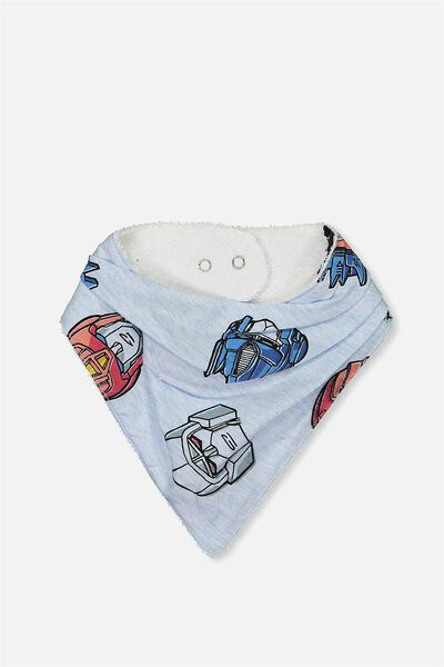 License Dribble Bib, BLUE MARLE/TRANSFORMERS