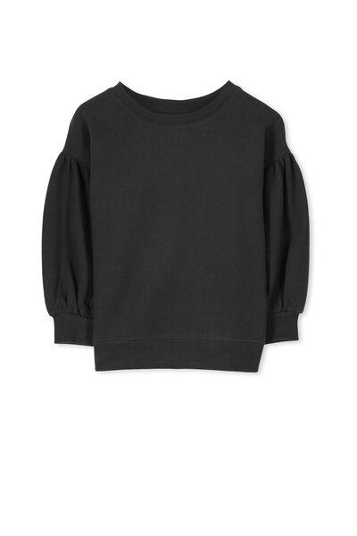 Sage Puff Sleeve Sweatshirt, PHANTOM