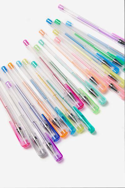 24Pce Gel Pen Pack, COLOUR & NEON