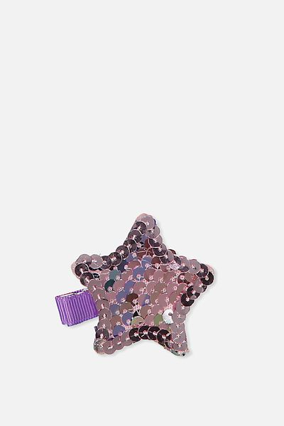 Fashion Hair Clips, RAINBOW/SEQUIN STAR