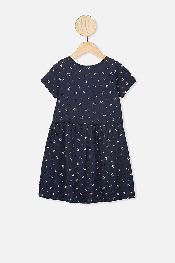 Freya Short Sleeve Dress, INDIAN INK/FLORAL FIELDS MINI