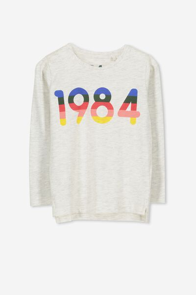 Tom Long Sleeve Tee, 1984 OATMEAL MARLE/SIS