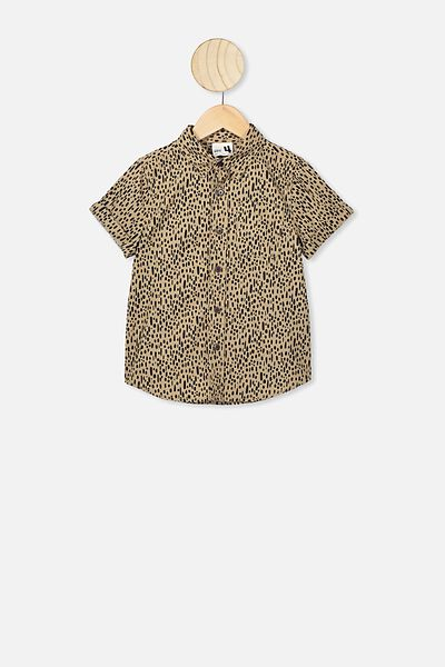 Resort Short Sleeve Shirt, LEOPARD SPOTS