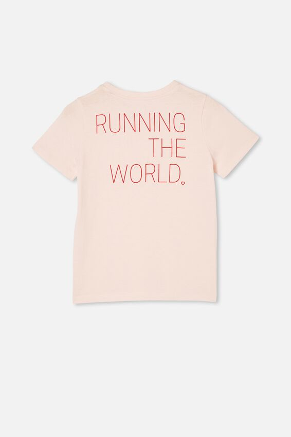 Penelope Short Sleeve Tee, CRYSTAL PINK/RUNNING THE WORLD