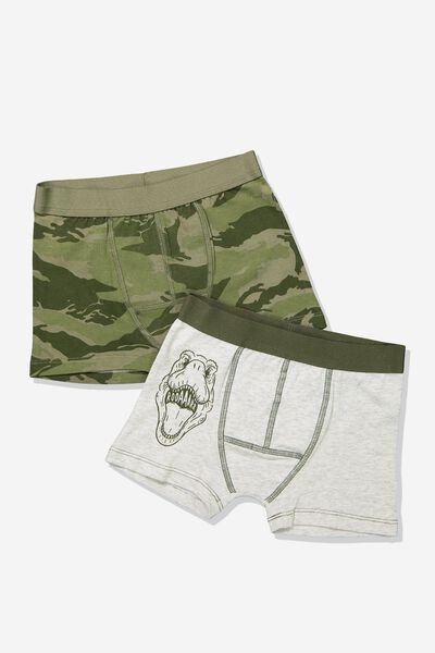 Boys 2Pk Trunk, CAMO DINO MIX