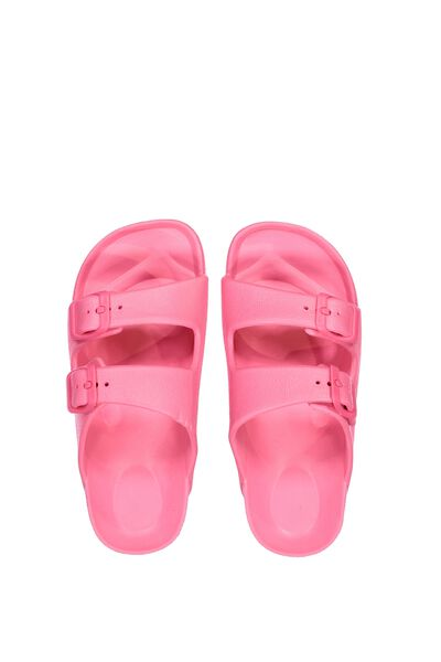 Twin Strap Slide, VIBRANT FUSCHIA