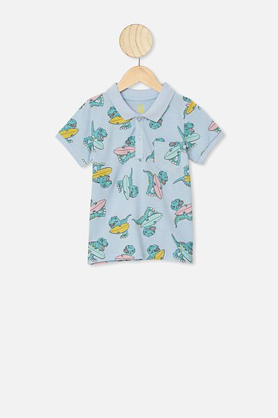 Kendricks Polo, WHITE WATER BLUE/SURF DINO