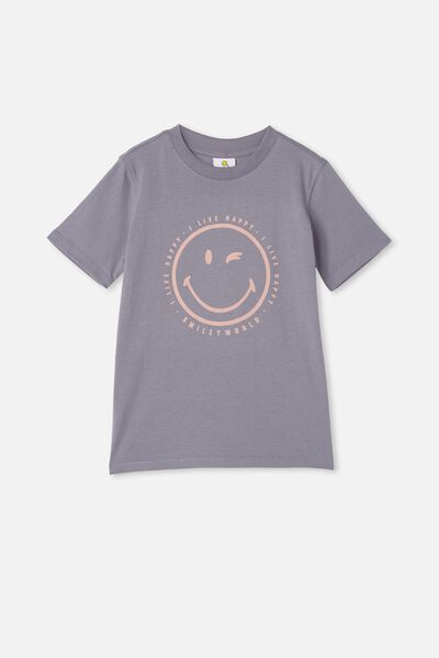 Co-Lab Short Sleeve Tee, LCN SMI STEEL / SMILEY