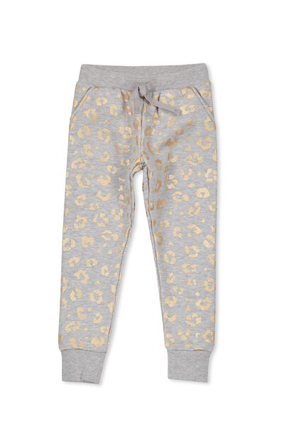 Kikii Sweatpant, LIGHT GREY MARLE/ANIMAL FLORAL