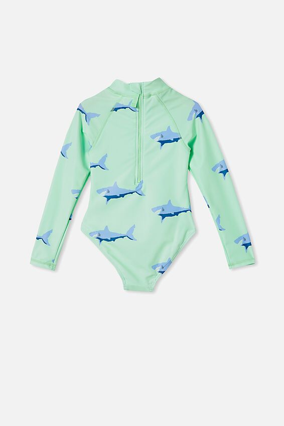 Lydia One Piece, WASHED SPEARMINT/SHARKS
