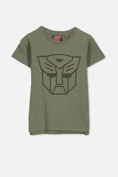 Short Sleeve License1 Tee, LCN HAS CLIVE GREEN/TRANSFORMERS