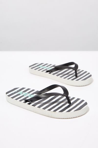 Printed Flip Flop, PHANTOM WHITE STRIPE