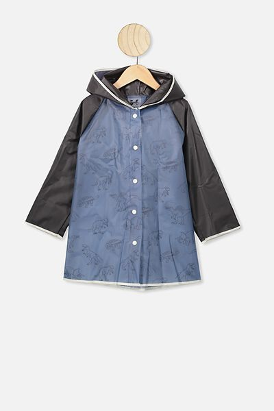 Cloudburst Raincoat, NAVY DINO